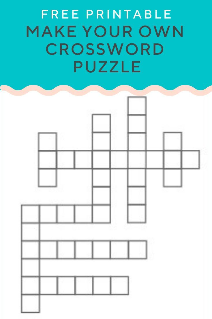 Crossword Puzzle Generator Create And Print Fully Customizable Puzzles With This Free Generator E Crossword Puzzle Maker Kids Crossword Puzzles Puzzle Maker
