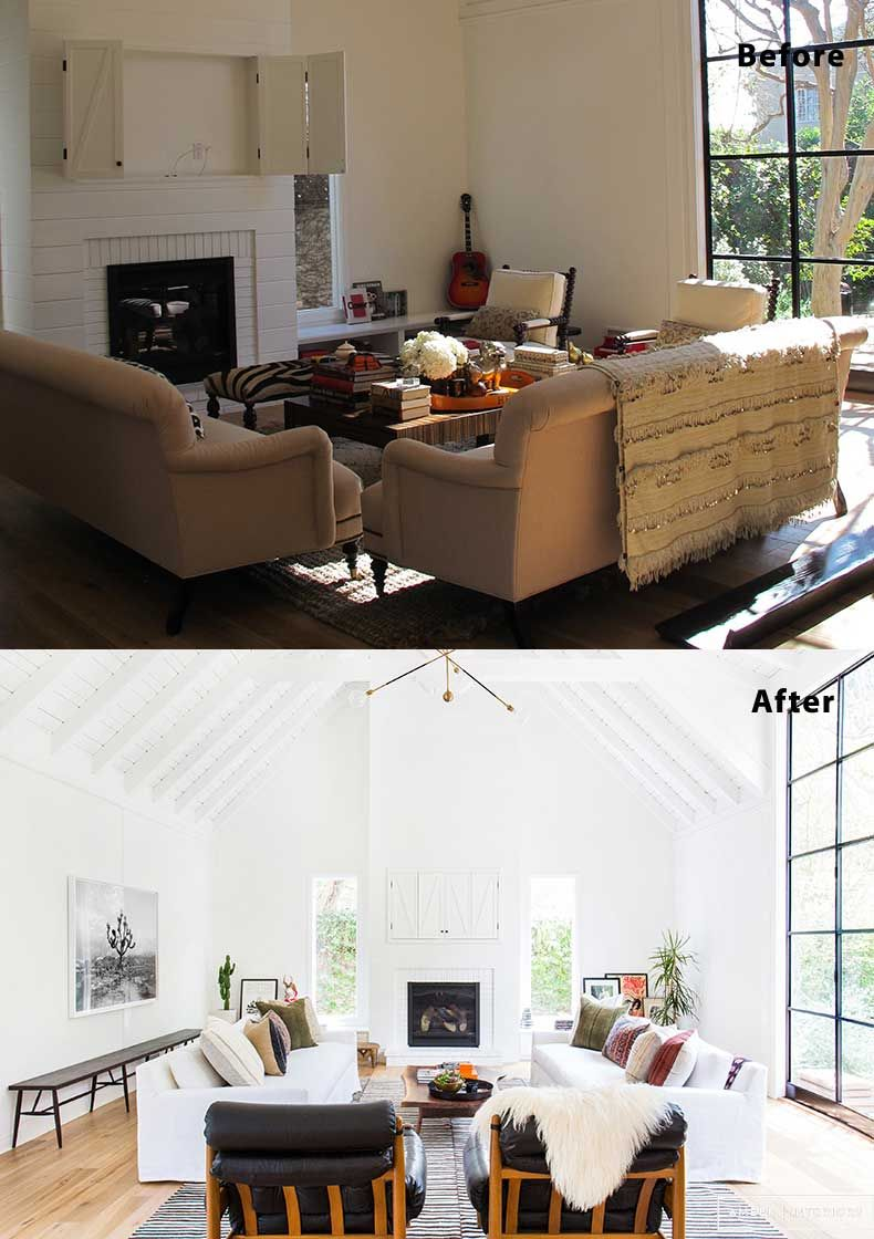 55 Living Room Design, Decor and Remodel Ideas (Before & After ...