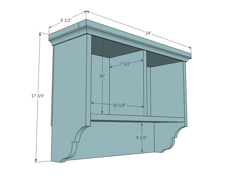 Ana White   Build a Martina Bath Wall Storage Shelf with Hooks ...