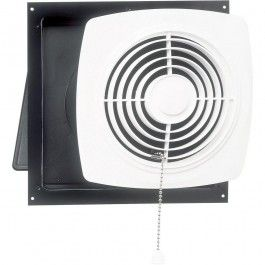 Broan 507 Wall Chain Operated Exhaust Bathroom Ventilation Fan In White Broan Bathroom Exhaust Fan Bathroom Fan