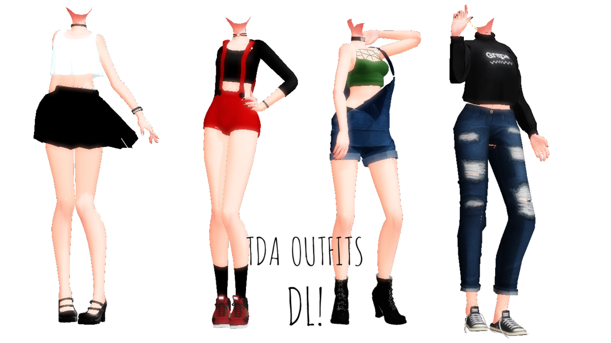 Mmdtda Outfits Dl By Nekommd24 Mmd Models Outfits Fashion