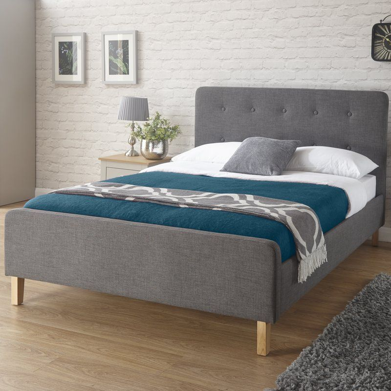 mercury row thoms upholstered bed frame u0026 reviews wayfaircouk