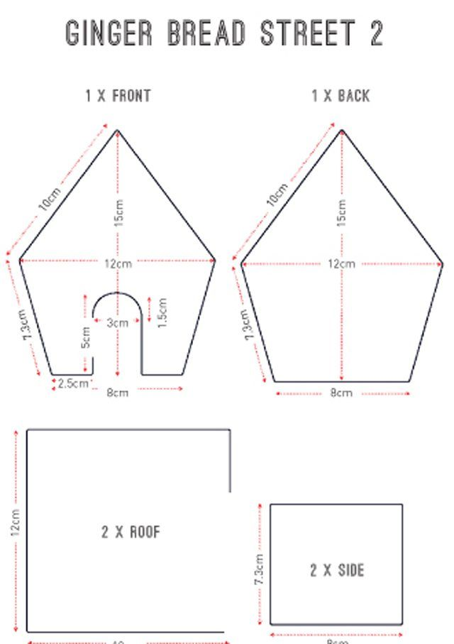 Gingerbread house templates | delicious. magazine
