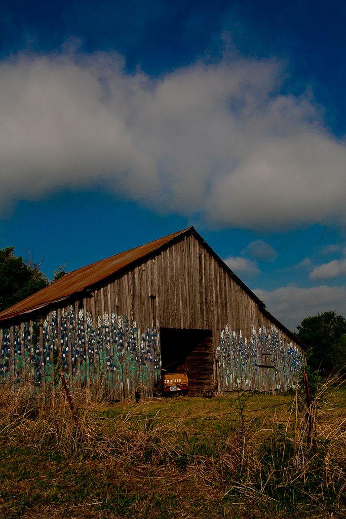 Bluebonnet Barn Near Mexia Tx American Barn Mexia Old Barns