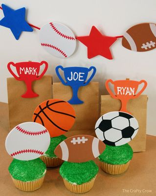 The Crafty Crow Sports Party Decorations And Favor Ideas Sports