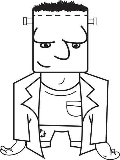 Free Printable Frankenstein Coloring Page For Kids Coloring Pages