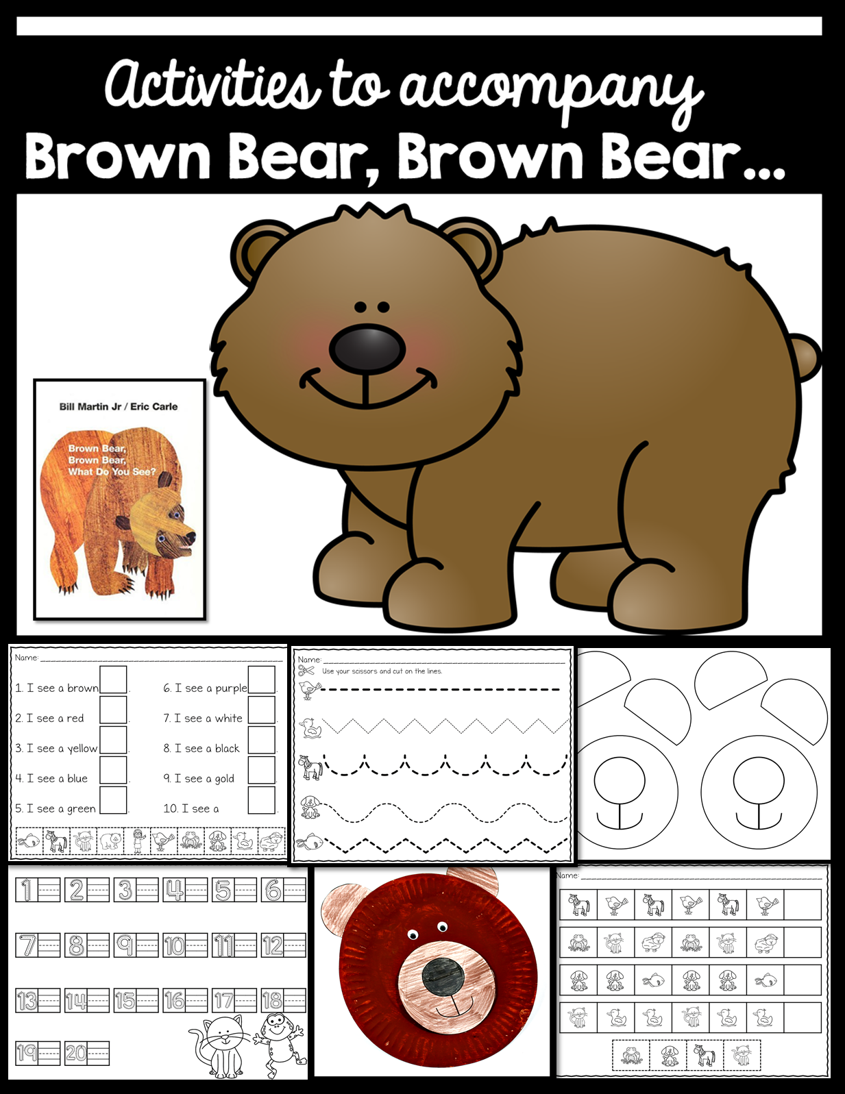 Brown Bear Brown Bear First Week Of School Activities