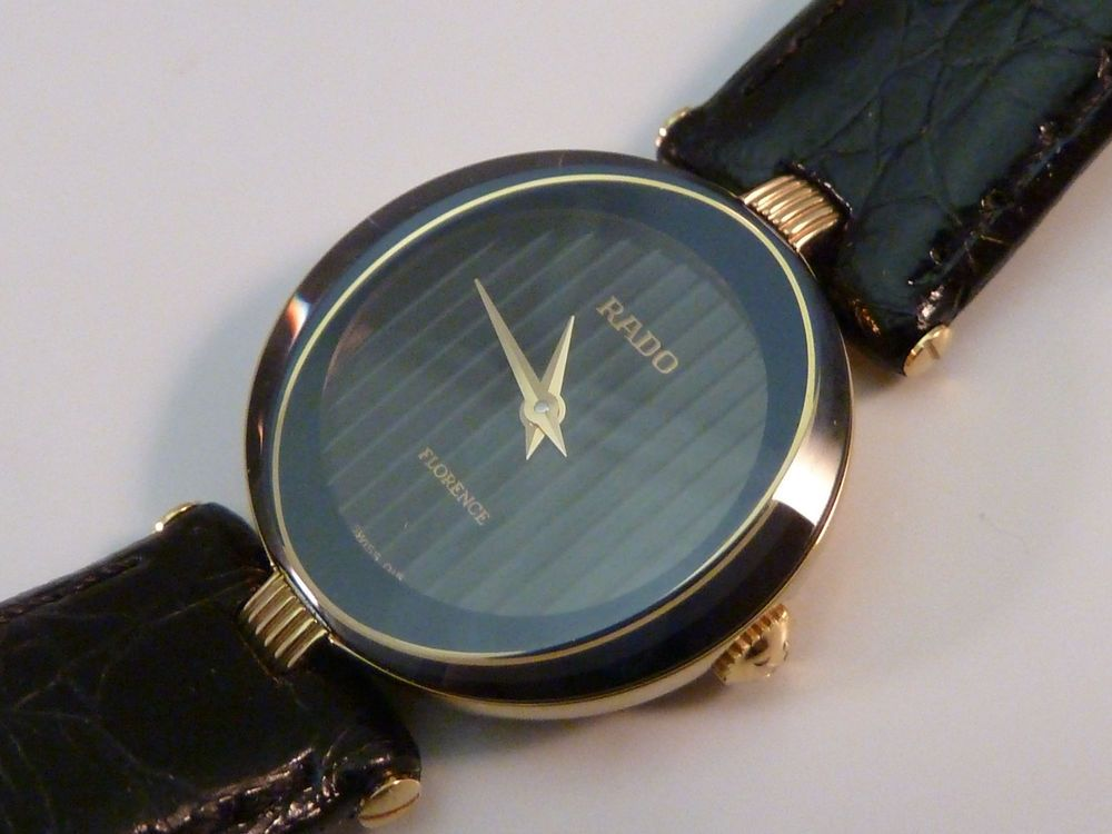 b8ee9d382d3 Rado Ladies Watch 153.3695.2 Womens Watch Gold Tone Leather Band Excellent  Cond  Rado  Casual