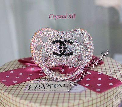 2d7a79415b1 Chameleon Fashion Canpol Babies Pacifier with Swarovski Crystals ...