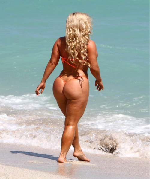 Beach blonde ass