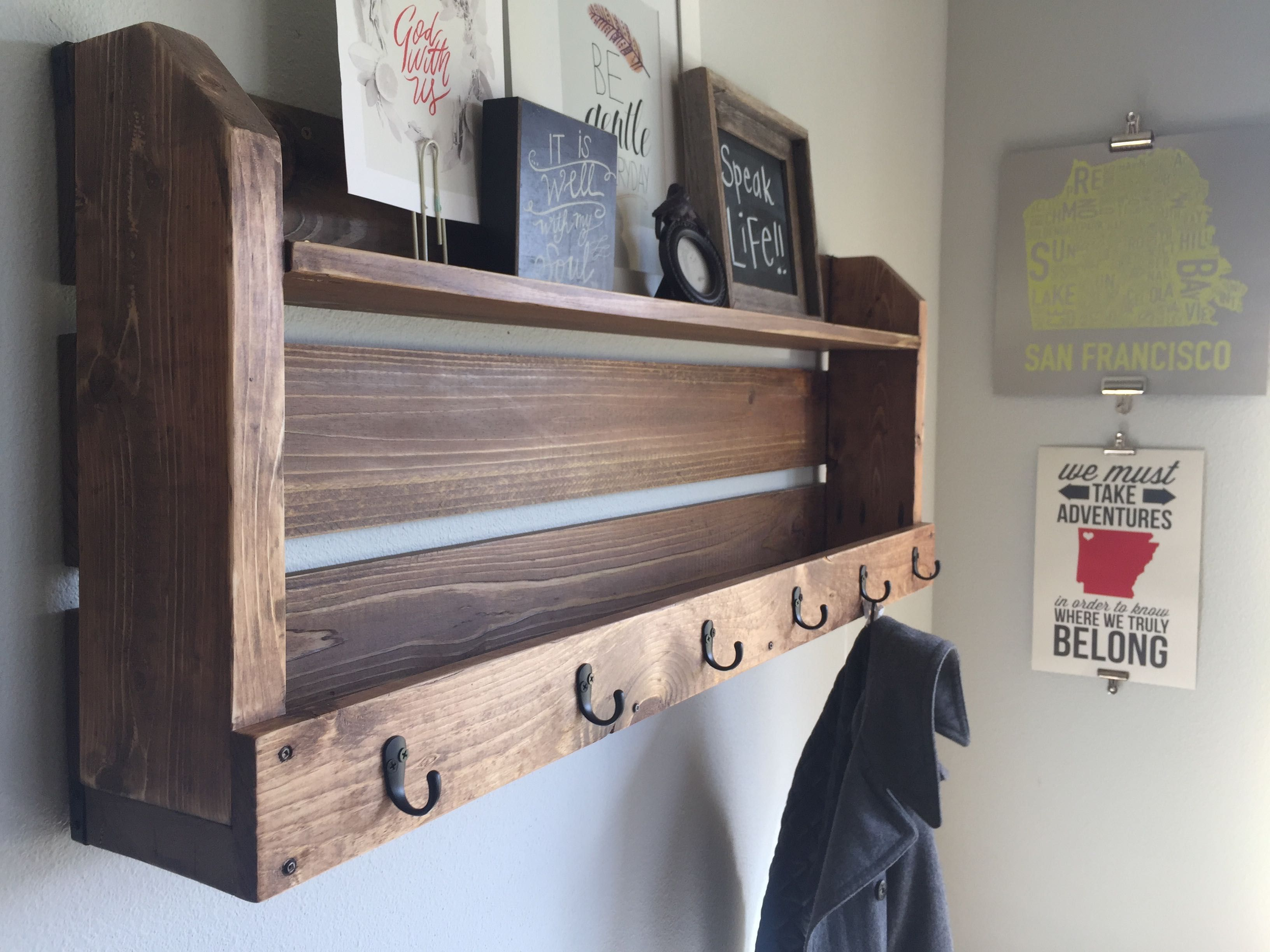 Pallet Shelf Coat Rack Home Projects
