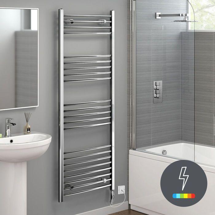 1600x600mm chrome thermostatic electric towel radiator