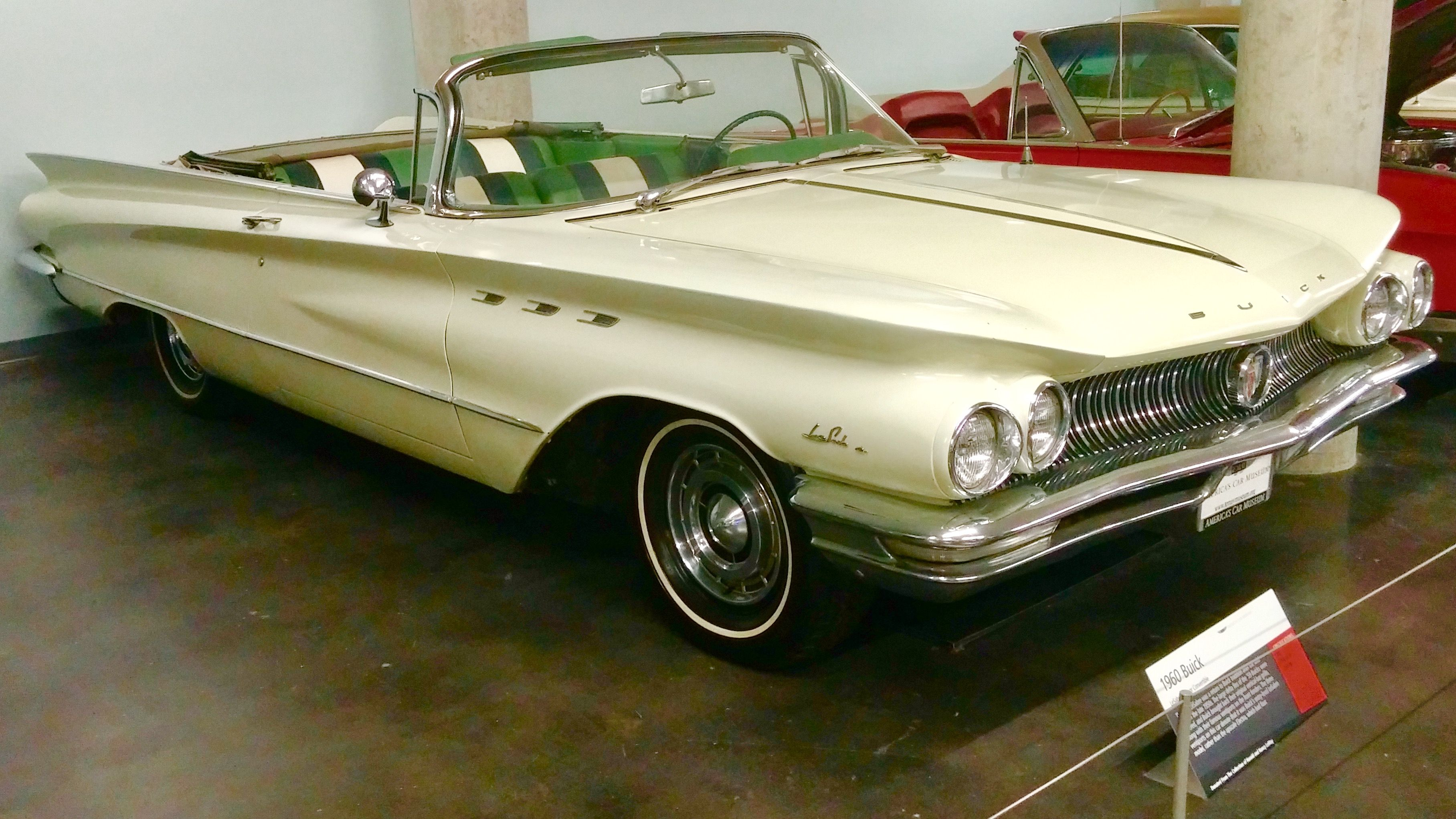 1960 Buick Lesabre 2 Door Convertible In Cream Exterior Color With Lucerne Green Arctic White Matching Interior Vinyl Folding Top