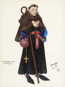 geoffrey chaucers pardoner a character sketch Chaucer's prioress: simple and conscientious,  the character of the prioress in geoffrey chaucer's  the word and the line lie at the heart of the sketch.