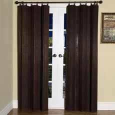 Easy Glide All-Natural Bamboo Ring Top Window Curtain Panels - Bed Bath & Beyond