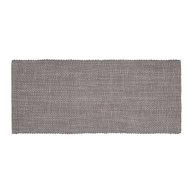 Della Grey Cotton Flat Weave Rug Runner 2 5 X6 Woven