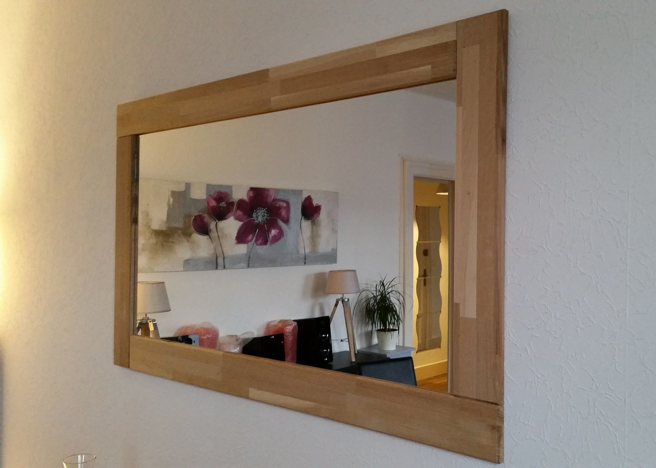 Fabrication d 39 un cadre de miroir en ch ne projets for Miroir en solde