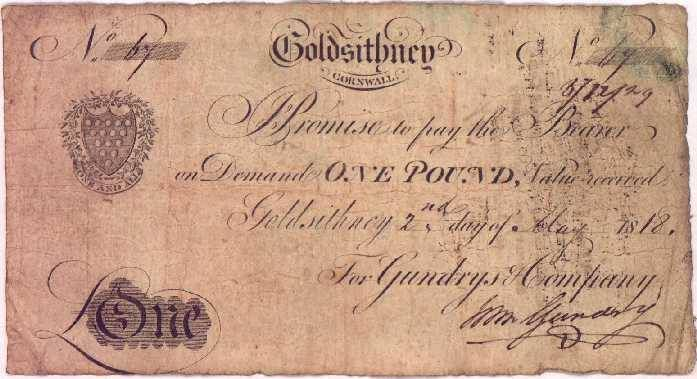 Promissory Note One Pound Promissory Note From GundreyS Company