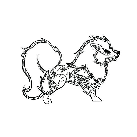 Arcanine De Los Muertos Pokemon Day Of The Dead Mashup Pokemon Coloring Pages Pokemon Coloring Mandala Coloring Pages