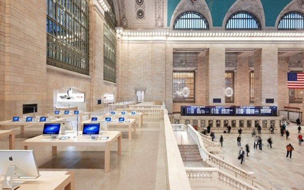 5 Most Beautiful Apple Stores From All Around The World Apple Store Grand Central Apple Retail Store Apple Store