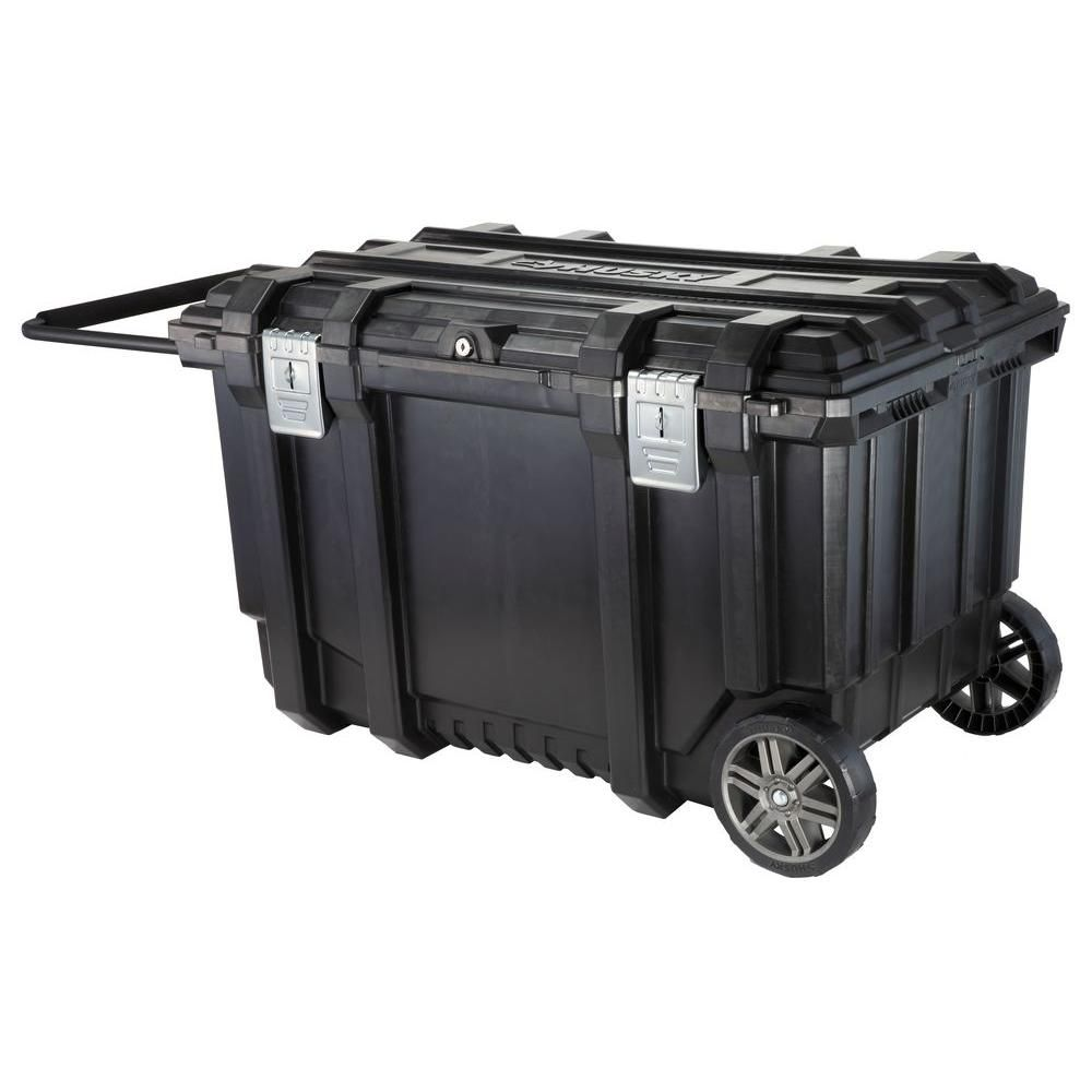 Husky 37 In Rolling Tool Box Utility Cart Black 209261 The Home Depot Rolling Tool Box Utility Cart Tool Box