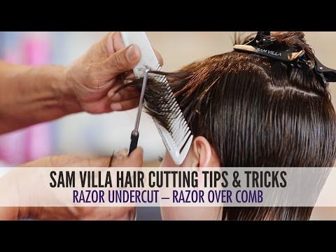 Short Razor Haircut Tutorial - How To Create Scattered Graduation & Texture - YouTube