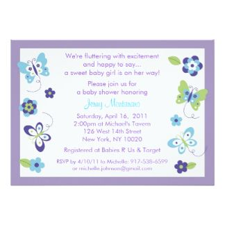 Butterfly Baby Shower Invitations, 2,100+ Butterfly Baby Shower Announcements & Invites