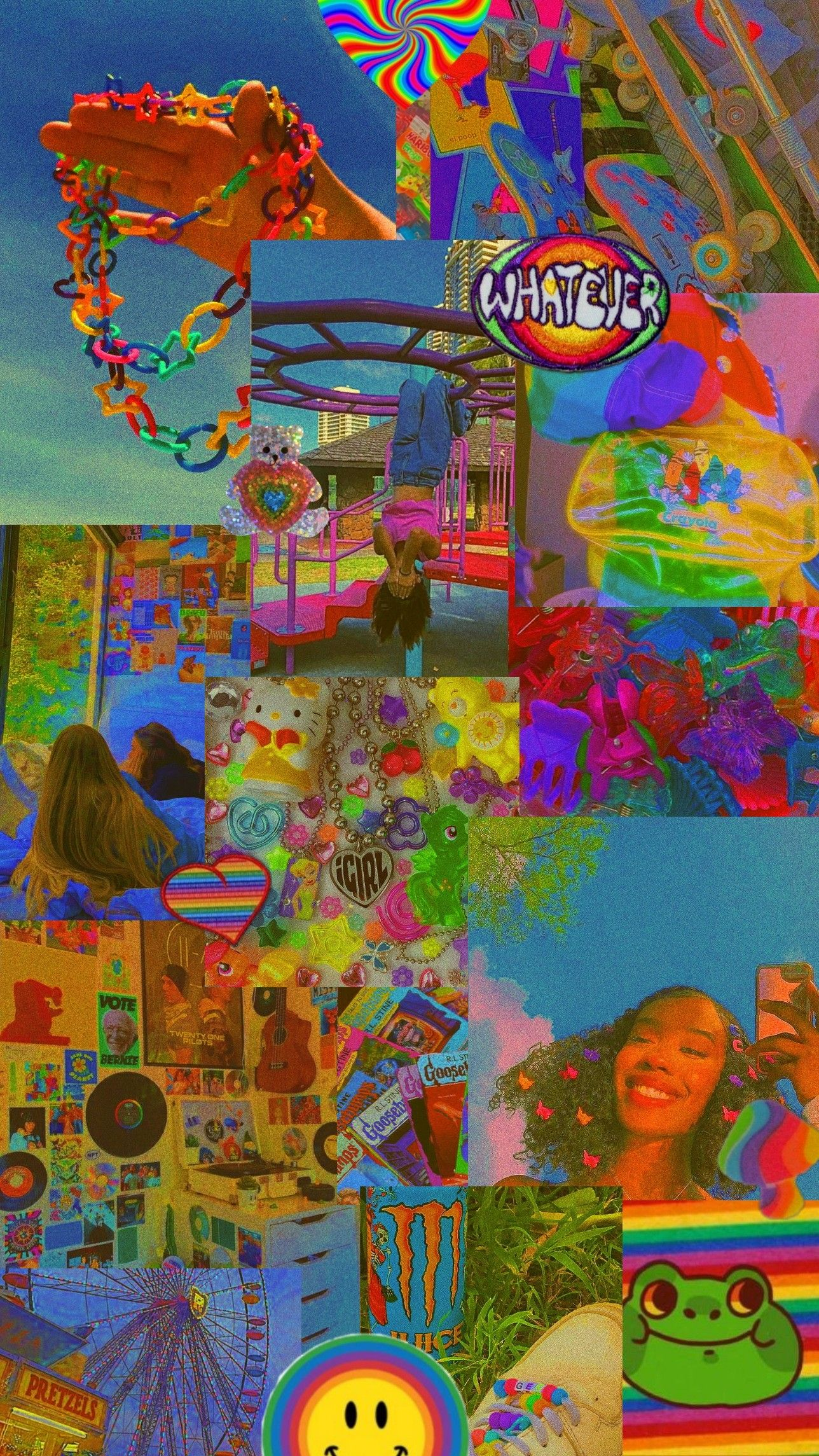 Indie Kid Wallpaper Hippie Wallpaper Neon Art Print Indie Art