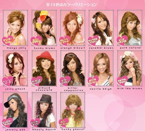 palty hair colors from japan... can prob mix my own with supplies at sally's.