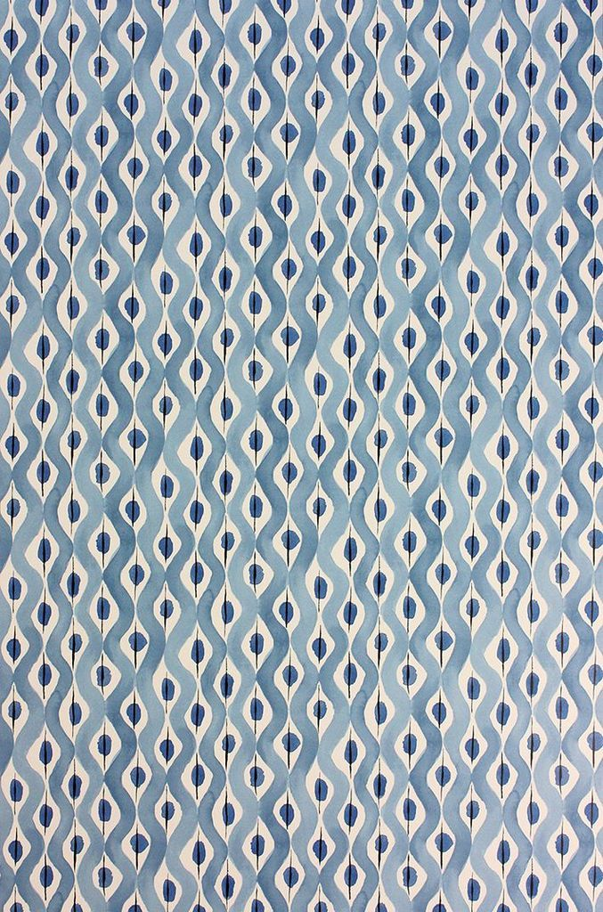 Beau Rivage Wallpaper in Blue from the Les Rêves