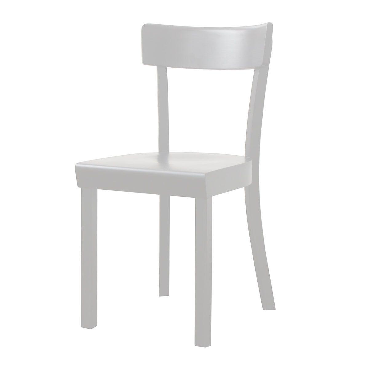 Stoelcker - Frankfurter Stuhl weiß gebeizt, matt lackiert Weiß H:81 ...