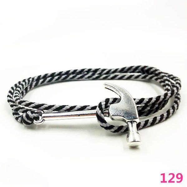 Women S Hammer Bracelet 15 Colors Rope Wrap Anti Silver Bracelets On Summer Anchor 129