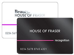 Welcome To The Recognition Reward Card House Of Fraser With