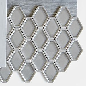 Nova Hex Smoke Ceramic Mosaic Tile Decorative Tile Ceramic