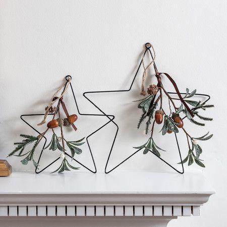 Eucalyptus Hanging Star Christmas Decoration Duo