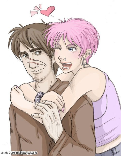 Remus & Tonks   So gender fluid Tonks is one of my fave trans headcanons. Just FYI.