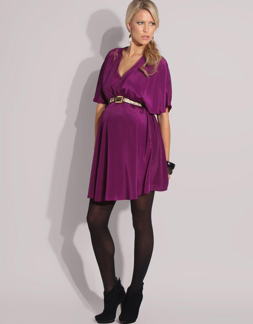 c61da4440c654 eggplant-colored maternity dress for all seasons   Fashion Pregnant ...