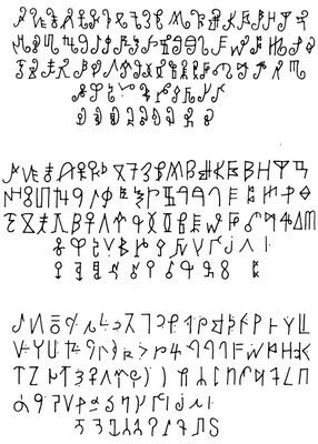 Interesting African alphabets | Art | Alphabet symbols, Alphabet
