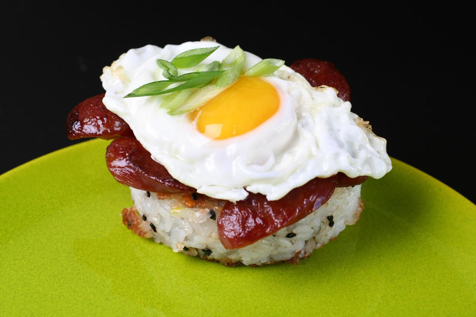 Breakfast rice cakes with chinese sausage recipe recipe