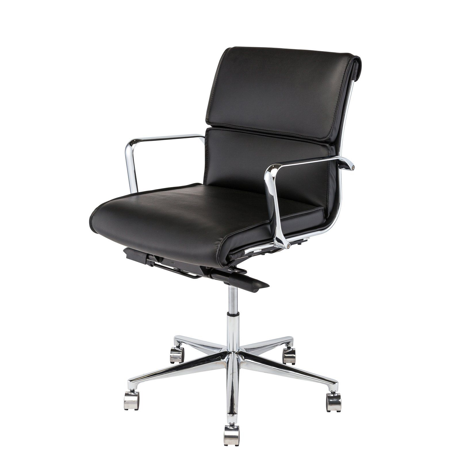 Nuevo Living Lucia Mid-Back Office Chair Black ...