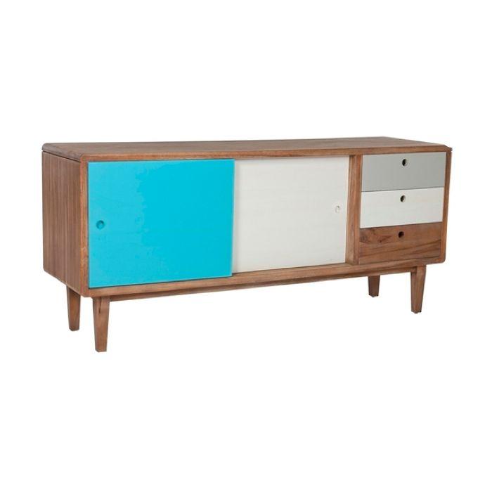 Arden Buffet Blue Grey And White 229000 Interiordesignonlineco