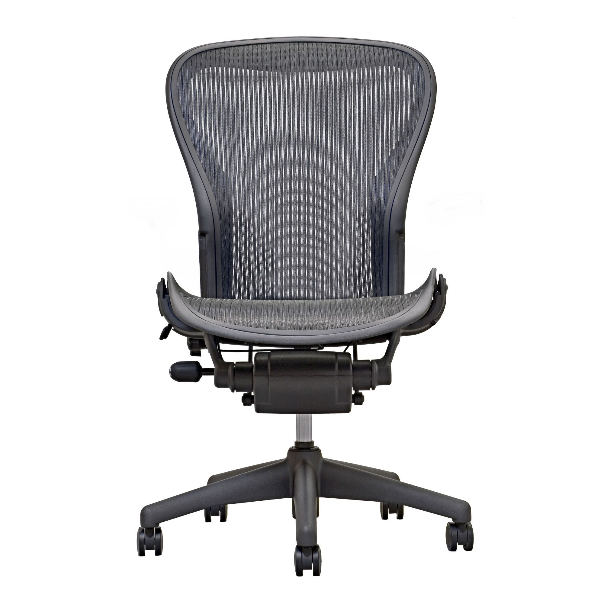 Aeron Chair by Herman Miller Armless preowned Carbon