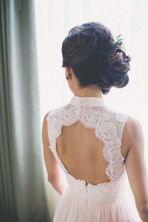 Tendance Robe du mariée  2017/2018  Intimate East-Meets-West Boston Wedding Black of Tea Ceremony Dress | Brides.co
