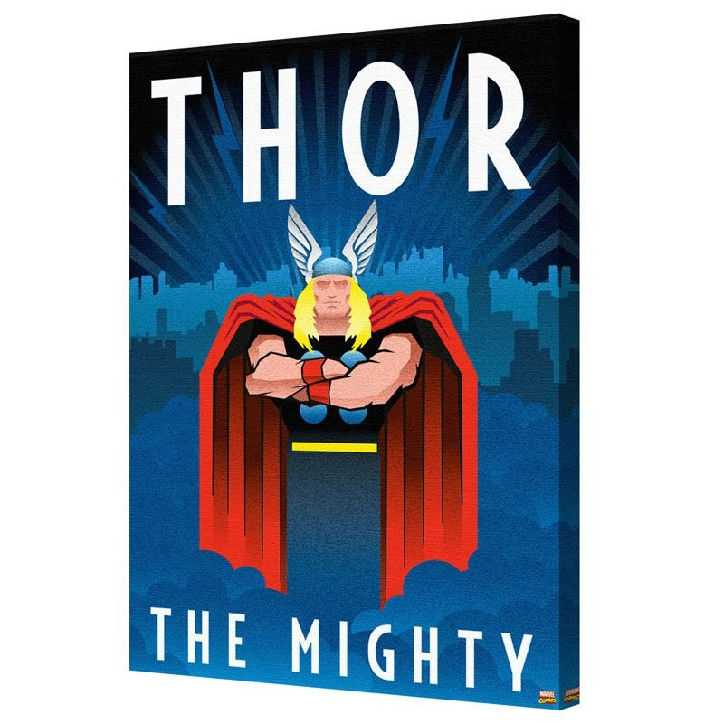 Pyramid America Thor Art Deco Canvas Art Weekends Only Furniture And Mattress Thor Art Art Deco Posters Thor Posters