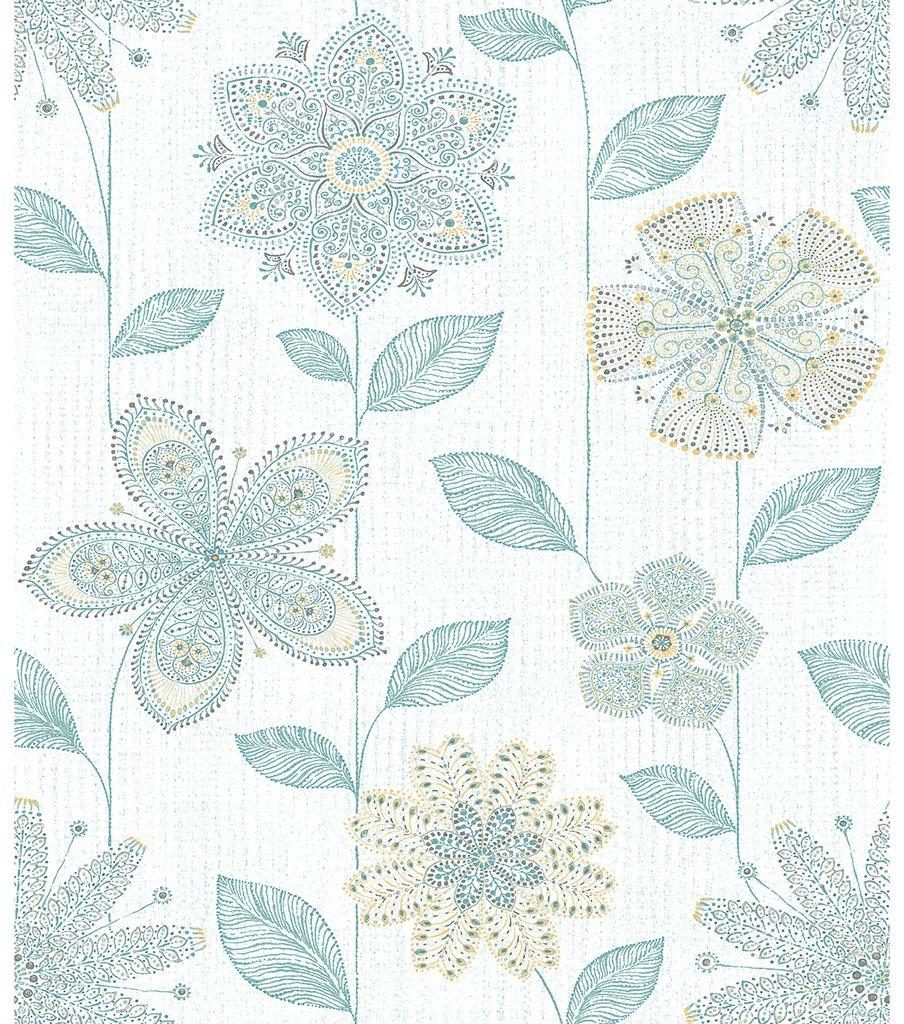 WallPops NuWallpaper Batik Floral Peel and Stick Wallpaper