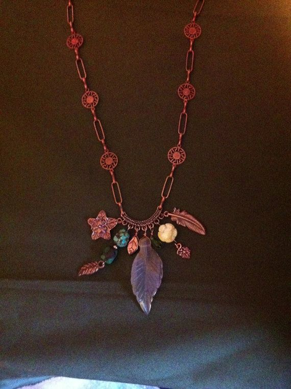 Necklace Mother Nature Goddess magic agate by BohoGypsysTreasures, $40.00