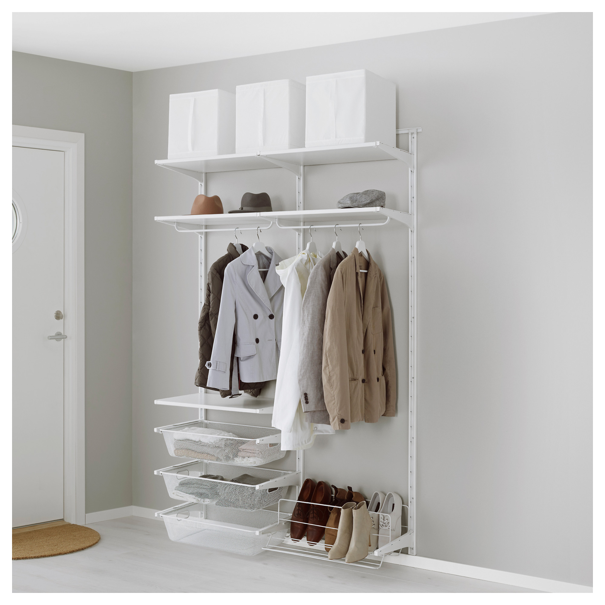 IKEA   ALGOT Wall Upright/rod/shoe Organizer White