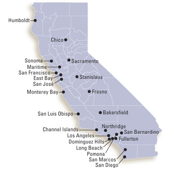 San Marcos Campus Map.A Map Of California With Links To Campus Locations Future