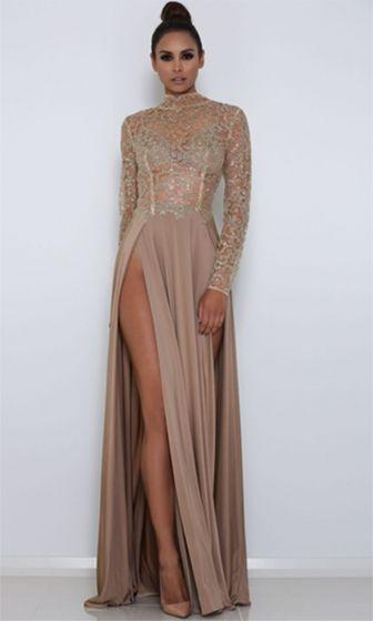 Beige dresses long