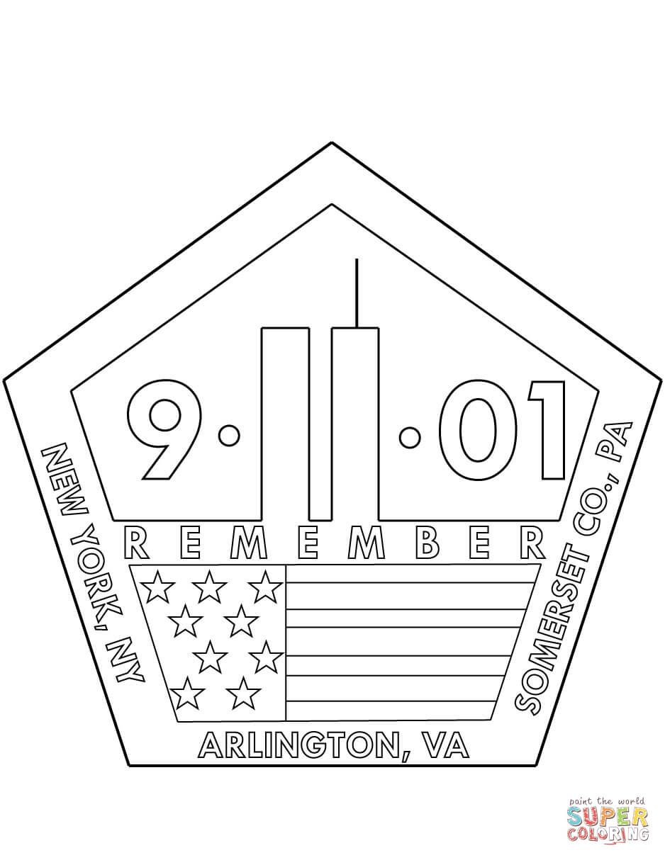 11th September Memorial Coloring Page Free Printable Coloring